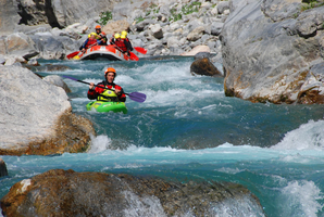 kayak rafting alps