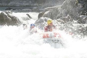 rafting in alps