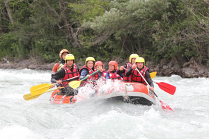 rafting in the durance