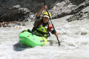 kayaking white water