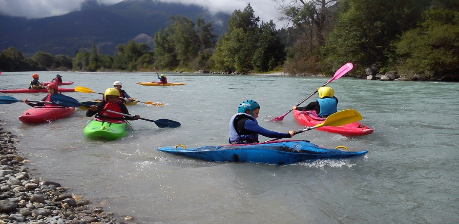 kayak enfant hautes alpes
