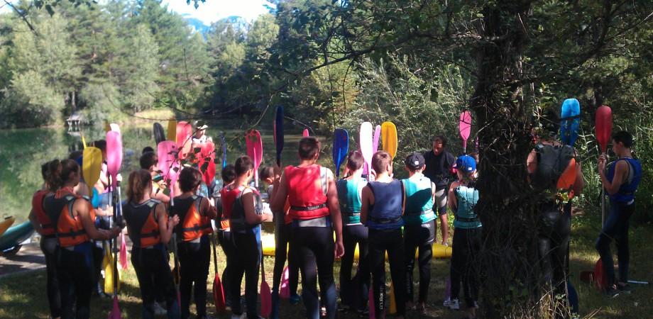 kayaking children